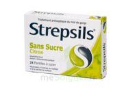 Strepsils Citron Sans Sucre, Pastille édulcorée à L'isomalt, Au Maltitol Et à La Saccharine Sodique à TARBES