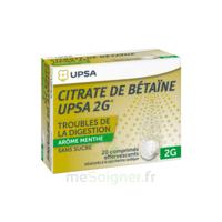 Citrate De Bétaïne Upsa 2 G Comprimés Effervescents Sans Sucre Menthe édulcoré à La Saccharine Sodique T/20 à TARBES