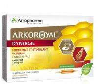 Arkoroyal Dynergie Ginseng Gelée royale Propolis Solution buvable 20 Ampoules/10ml à TARBES