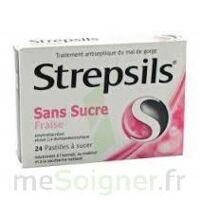 Strepsils Fraise Sans Sucre, Pastille édulcorée à L'isomalt, Au Maltitol Et à La Saccharine Sodique à TARBES