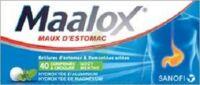 MAALOX HYDROXYDE D'ALUMINIUM/HYDROXYDE DE MAGNESIUM 400 mg/400 mg Cpr à croquer maux d'estomac Plq/40 à TARBES