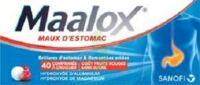 MAALOX MAUX D'ESTOMAC HYDROXYDE D'ALUMINIUM/HYDROXYDE DE MAGNESIUM 400 mg/400 mg SANS SUCRE FRUITS ROUGES, comprimé à croquer édulcoré à la saccharine sodique, au sorbitol et au maltitol à TARBES