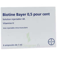 Biotine Bayer 0,5 Pour Cent, Solution Injectable I.m. à TARBES
