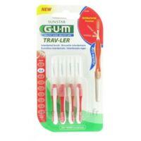 Gum Trav-ler 4 Brossettes Rouge Interdentaires 0.8mm à TARBES