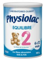Physiolac Equilibre 2 Lait Pdre B/900g à TARBES
