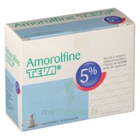 Amorolfine Teva 5 % Vernis Ongl Médic Médicamenteux 1fl Ver/2,5ml+spat à TARBES