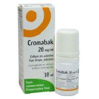 Cromabak 20 Mg/ml, Collyre En Solution à TARBES