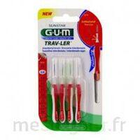 Gum Trav - Ler, 0,8 Mm, Manche Rouge , Blister 4 à TARBES