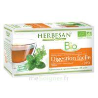 Herbesan Infusion Bio Tisane Digestion Facile 20 Sachets à TARBES