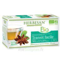 Herbesan Infusion Bio Tisane transit facile 20 Sachets à TARBES
