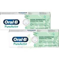 Oral B Pureactiv Dentifrice Soin Essentiel 2t/75ml à TARBES