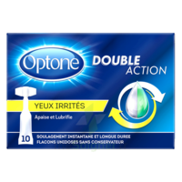 Optone Monodose Double Action Solution Oculaire Yeux Irrités B/10 à TARBES